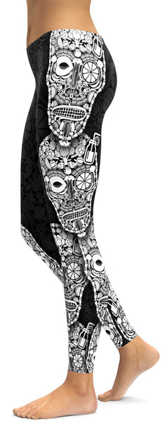 Vegan Skull Leggings