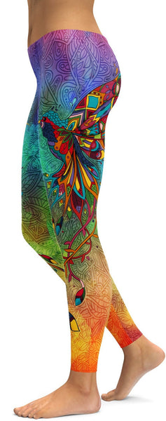 Ornamental Hummingbird Leggings