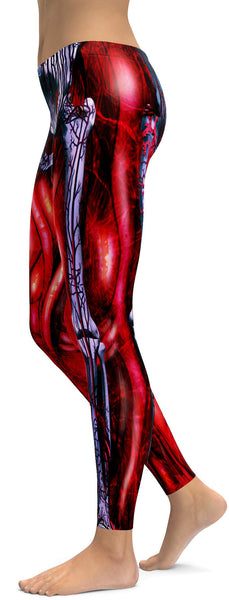 Blooded Muscles Horror Leggings