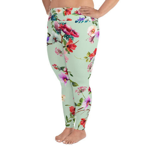 4a443aa10dc60 Pastel Floral Plus Size Leggings. ADD TO CART