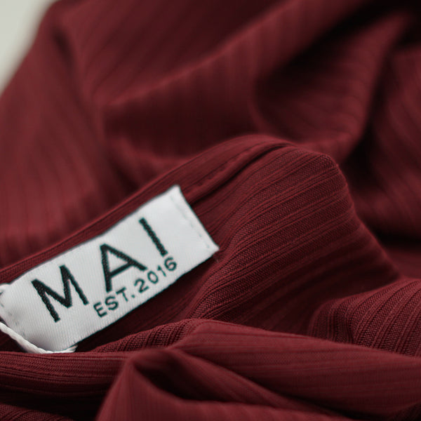 NEW & EXCLUSIVE | Ribbed Jersey Collection | Burgundy - Mai Official