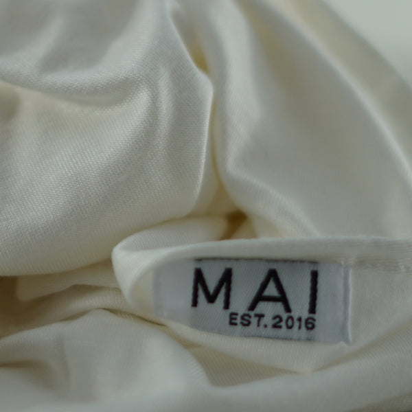 MAI Signature Premium 100% Cotton Jersey Maxi Hijab | White Wash - Mai Official