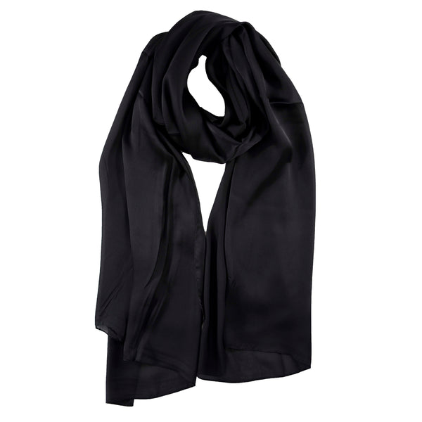 Rayon Silk Luxury Hijab | Onyx Black - Mai Official