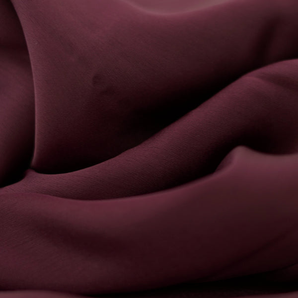 Rayon Silk Luxury Hijab | Burgundy Velvet - Mai Official