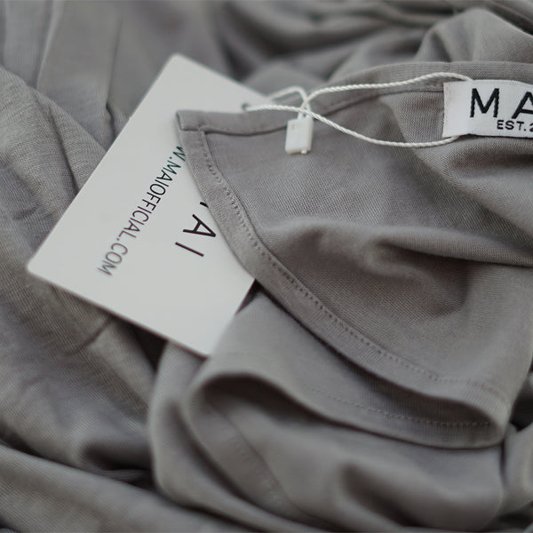 MAI Signature Premium 100% Cotton Jersey Maxi Hijab | Silver Cloud - Mai Official