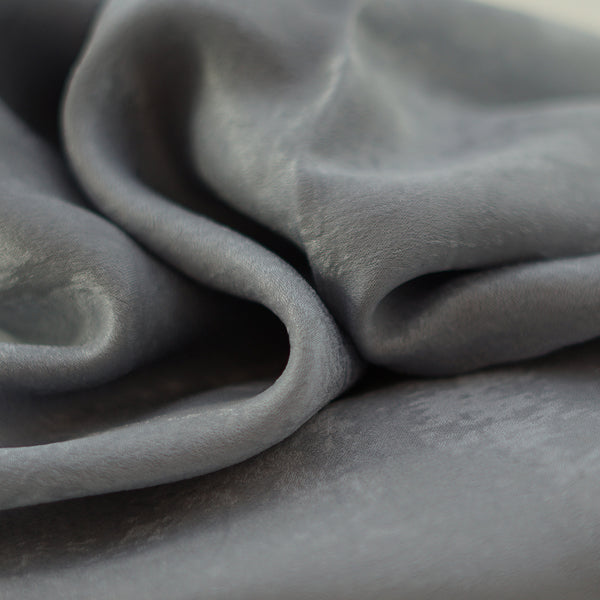 Natural Mulberry 100% Silk Occasional Maxi Hijab | Roman Silver - Mai Official