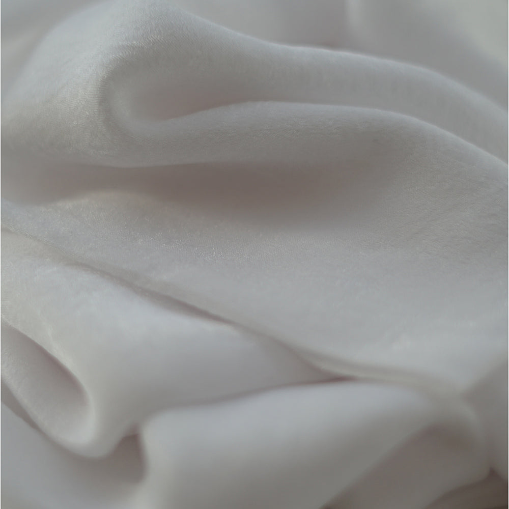 NEW COLLECTION | Natural Mulberry 100% Silk Occasional Maxi Hijab | Ivory - Mai Official