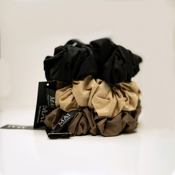 X-Large Suede Volumizing Scrunchies