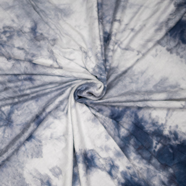 Pure Cotton Jersey | Marble - Azul