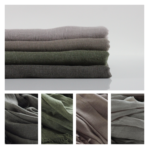Classic Cotton Modal Maxi Hijab | Dark Khaki, Olive Green, Mocha, Timberwolf - Mai Official