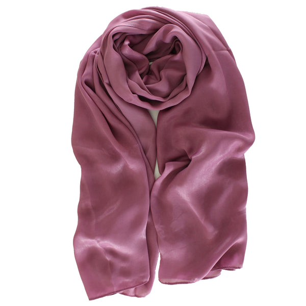 SALE | Natural Mulberry 100% Silk Occasional Maxi Hijab | Soft Mauve - Mai Official