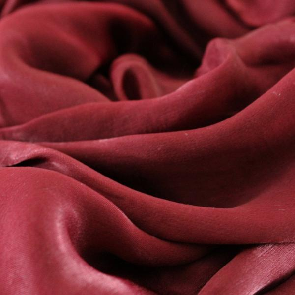 SALE | Natural Mulberry 100% Silk Occasional Maxi Hijab | Red Berry - Mai Official