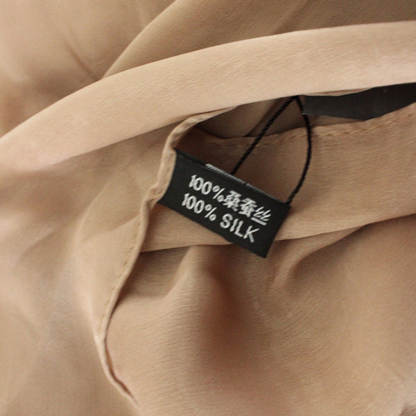 SALE | Natural Mulberry 100% Silk Occasional Maxi Hijab | Gold Mocha - Mai Official