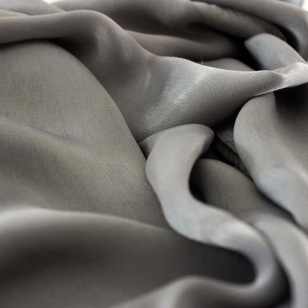 SALE | Natural Mulberry 100% Silk Occasional Maxi Hijab | Moonstone Grey - Mai Official