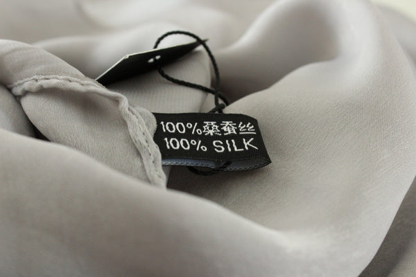 SALE | Natural Mulberry 100% Silk Occasional Maxi Hijab | Silver Mist - Mai Official