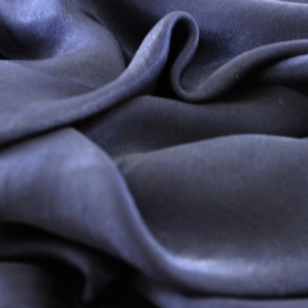 Natural Mulberry 100% Silk Occasional Maxi Hijab | Navy