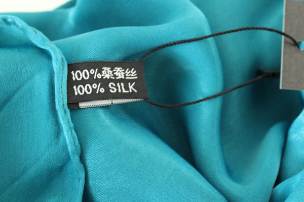 SALE | Natural Mulberry 100% Silk Occasional Maxi Hijab | Dark Green Teal - Mai Official