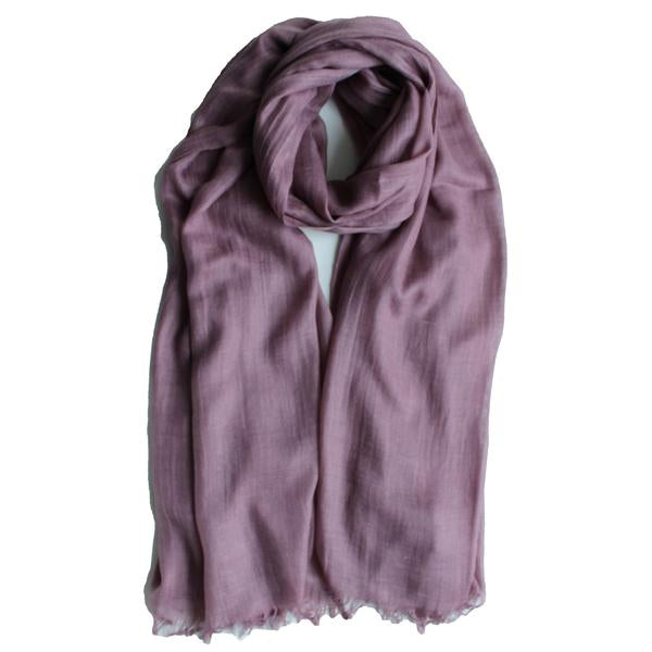 Classic Cotton Modal Maxi Hijab | Mulberry, Dusty Pink, Mink - Mai Official