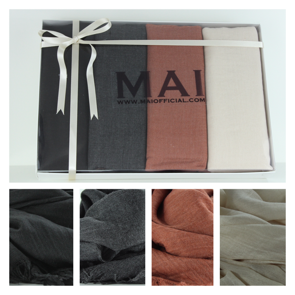 Boxed Mode Cotton Modal Hijab Collection - The Perfect Gift Box - Mai Official