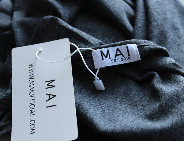 MAI Signature 100% Cotton Maxi Jersey | Dark Marl Grey - Mai Official