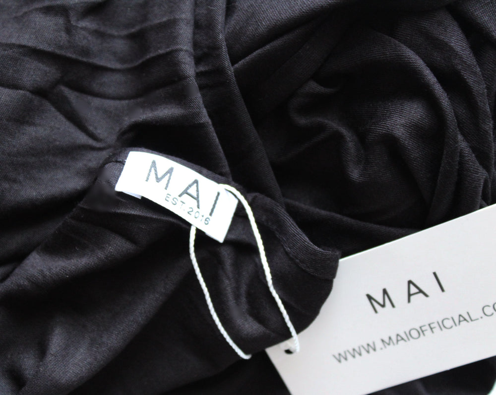 MAI Signature Premium 100% Cotton Maxi Jersey | Black - Mai Official