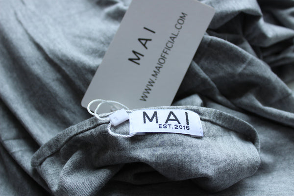 MAI Signature 100% Cotton Jersey Maxi Hijab | Light Grey Marl - Mai Official