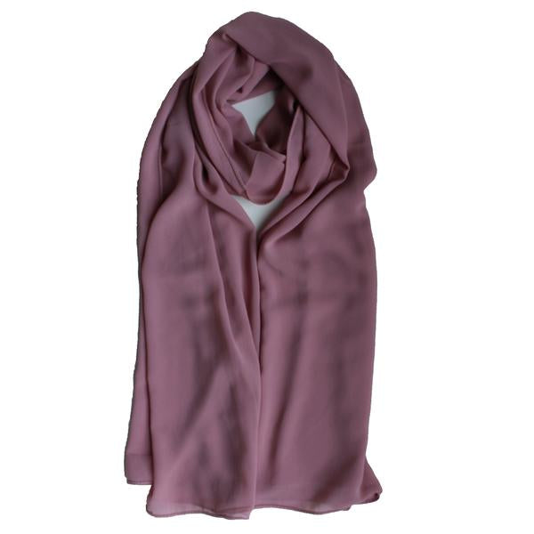 Soft Chiffon Crepe Hijab | True Mauve, Soft Rose, Dusty Pink - Mai Official