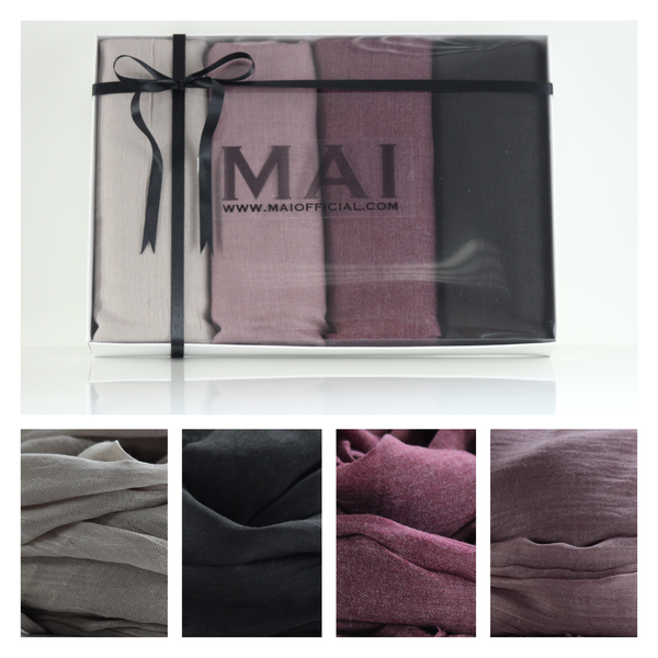 Boxed Essential Cotton Modal Hijab Collection - The Perfect Gift Box - Mai Official