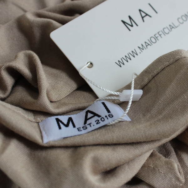 MAI Signature 100% Cotton Jersey Maxi Hijab | Mushroom - Mai Official