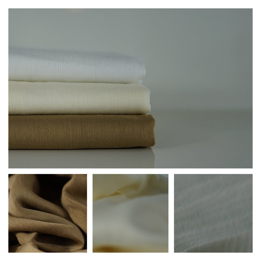 NEW COLOURS | Crêpe Cotton Collection | Natural