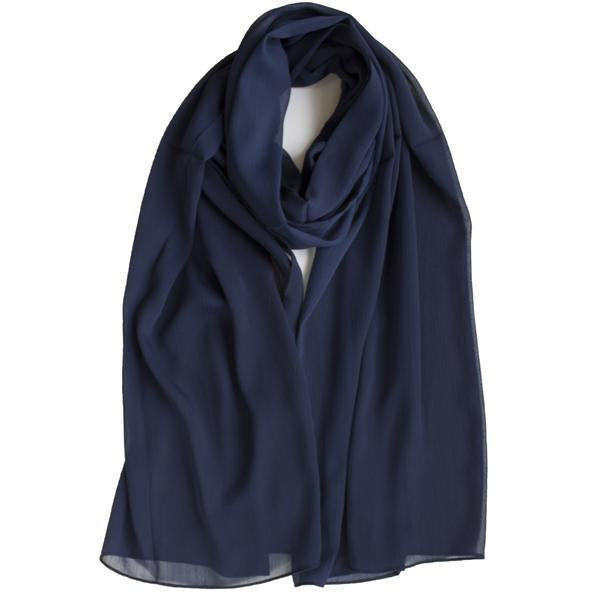 New Colours | Crinkle Chiffon Hijab | Black, Charcoal, Navy, Grey Heather - Mai Official