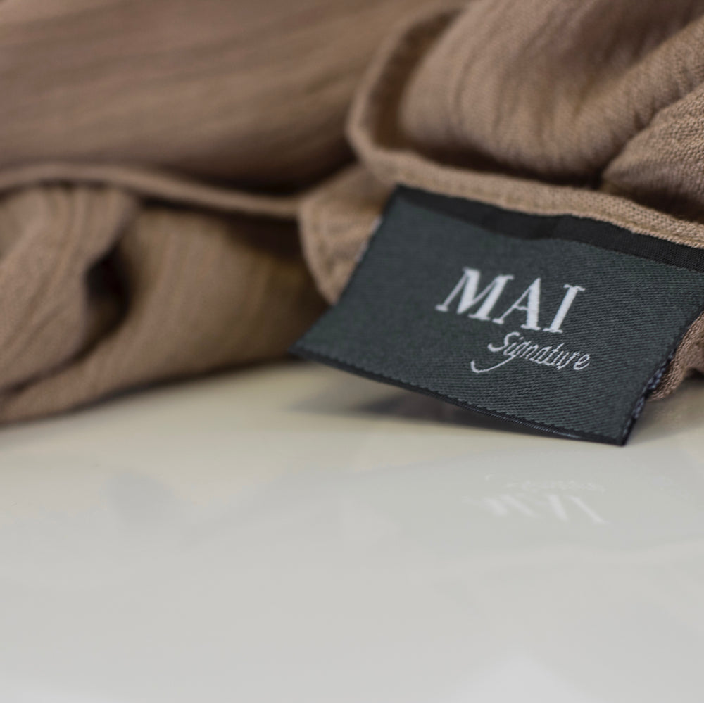 Signature Collection | Exclusive to MAI | 100% Rayon Crinkle Maxi Collection | Sabah, Beige, Mocha Mousse and Cashmere - Mai Official