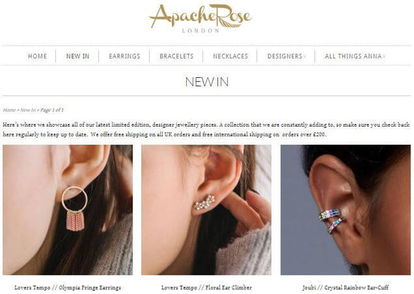 Introducing Apache Rose, Online Jewellery Store