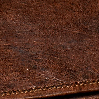 naturally suntanned leather