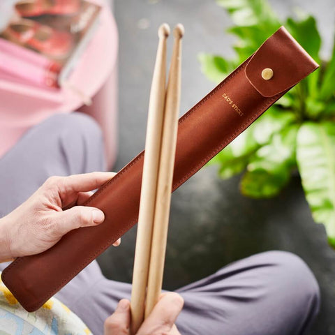 Leather Drum Stick Holder Fathers Day Gift for Music Lover