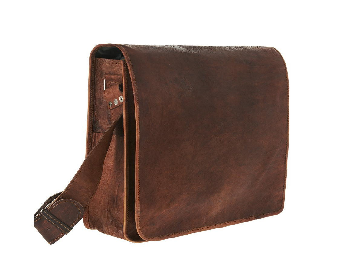 Grande Leather Messenger Bag Vida Vida