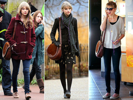 Taylor Swift With Large Saddle Bag
