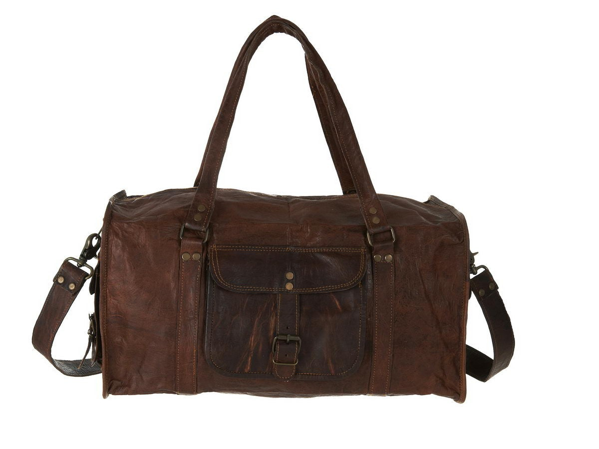 Large Leather Duffle Bag Vida Vida
