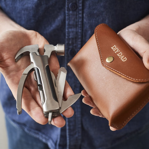 Dads DIY pocket multitool with leather holder