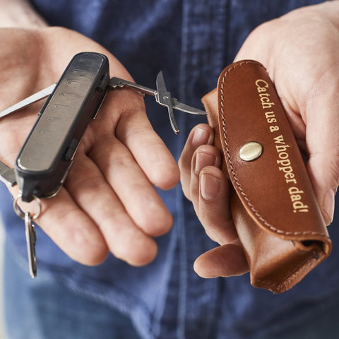 Pocket leatherman style gift with leather holder