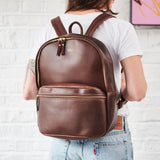 Vida Luxe Leather Backpack
