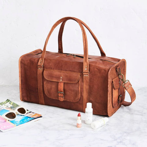 Leather Duffel Bag 20 inch