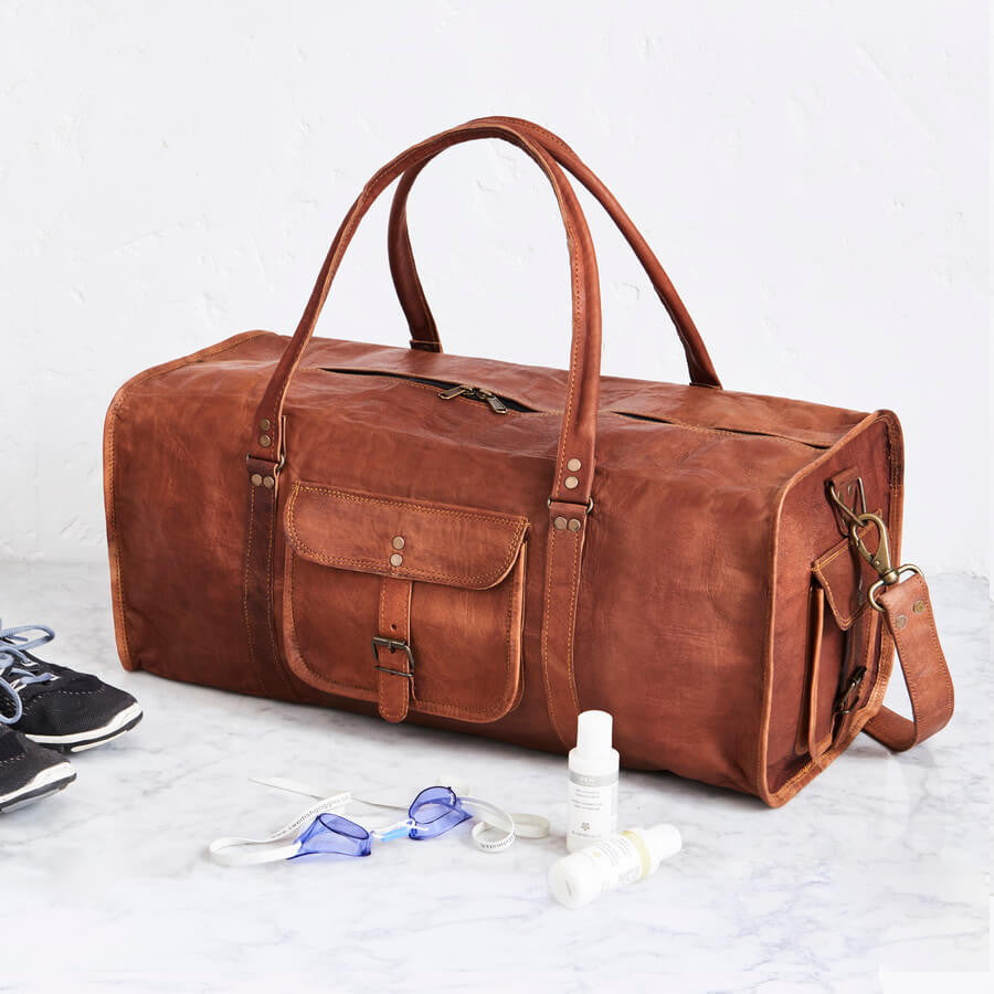 Gym Bag Nepal: Stylish Range Of Vintage-Inspired Leather Duffel Bags And