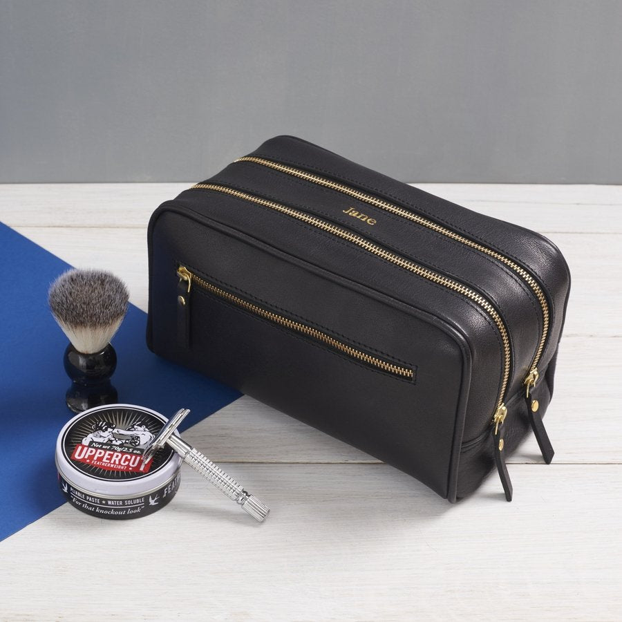 9cf3c236e88e Luxurious Range of Leather Toiletry Bags That You Can Personalise.