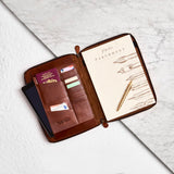 Tan Leather A4 Document Holder