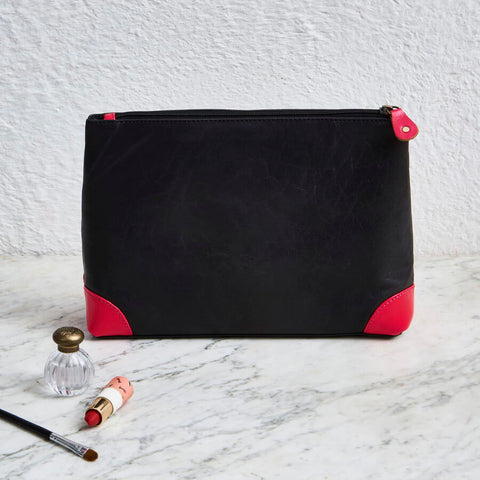 Bright colour Leather Toiletry Bag