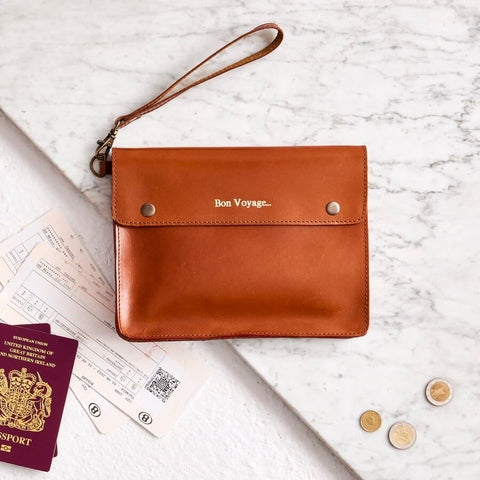 Leather Family Travel Wallet