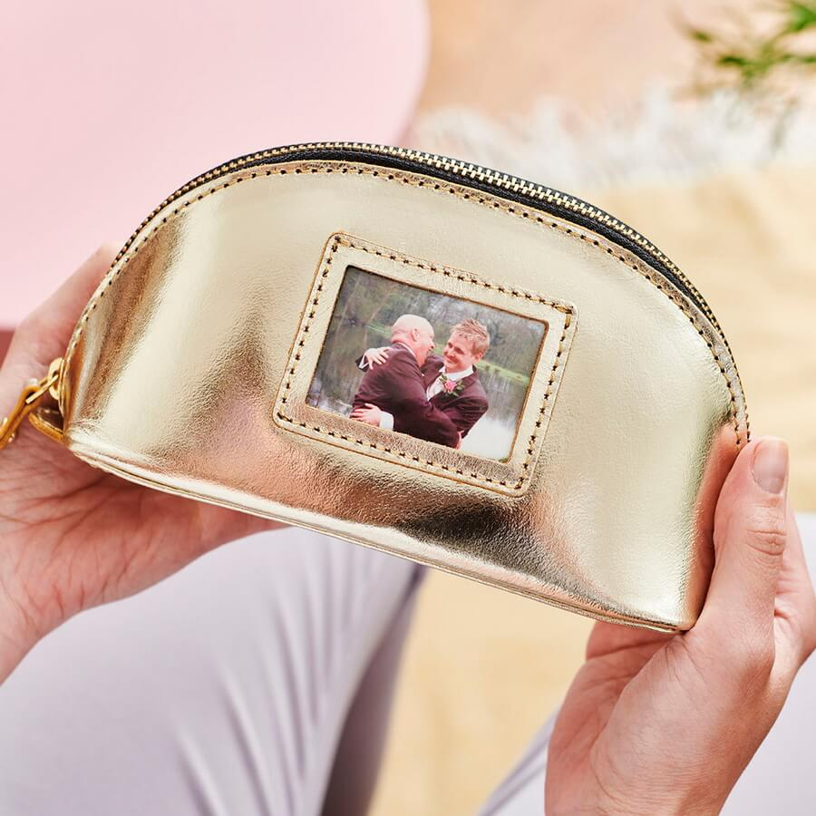 Personalised Make Up Bag With Photo Insert