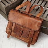 Large Leather Laptop Backpack 3 in 1