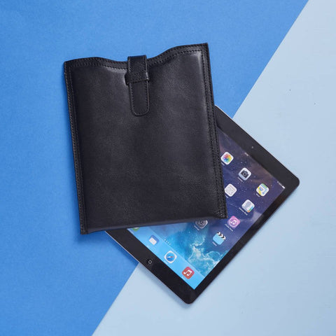 Leather iPad Envelope Sleeve Black